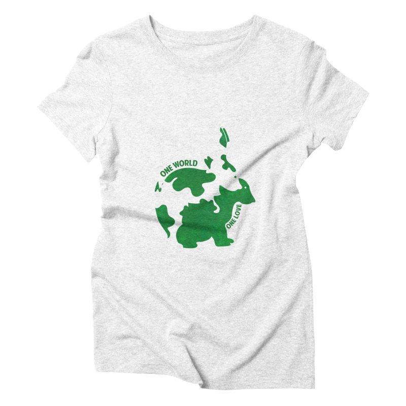 Bunnies Women's Triblend T-shirt by Thirty Silver