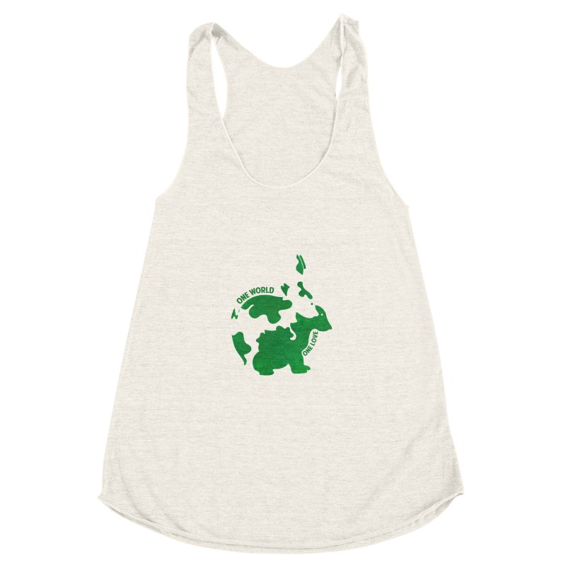 Bunnies Women's Racerback Triblend Tank by Thirty Silver