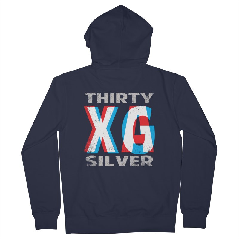 Thirty Silver LOGO Men's French Terry Zip-Up Hoody by Thirty Silver