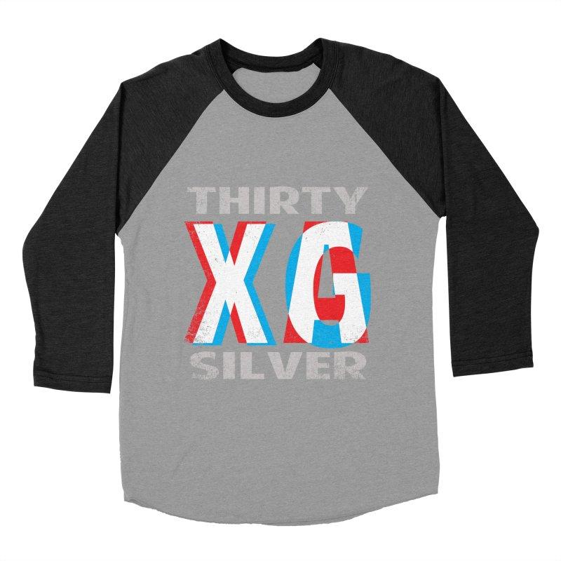 Thirty Silver LOGO Men's Baseball Triblend T-Shirt by Thirty Silver