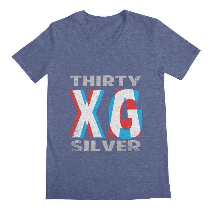 Thirty Silver LOGO Men's Regular V-Neck by Thirty Silver