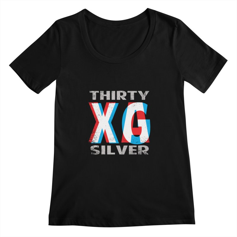 Thirty Silver LOGO Women's Scoopneck by Thirty Silver
