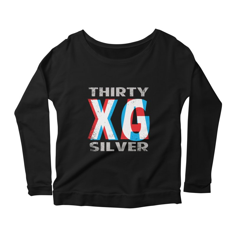Thirty Silver LOGO Women's Longsleeve Scoopneck  by Thirty Silver