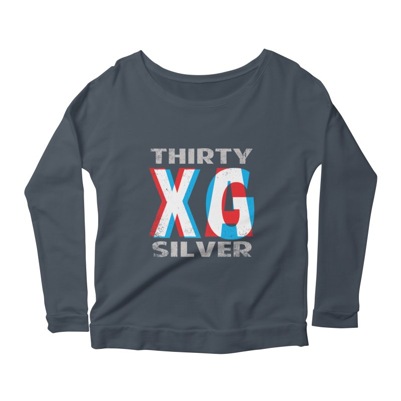 Thirty Silver LOGO Women's Scoop Neck Longsleeve T-Shirt by Thirty Silver