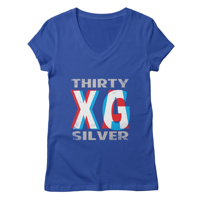 Thirty Silver LOGO Women's V-Neck by Thirty Silver