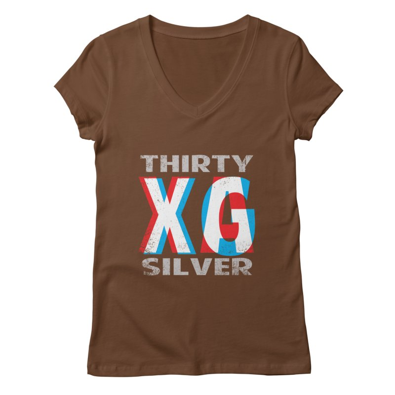 Thirty Silver LOGO Women's Regular V-Neck by Thirty Silver