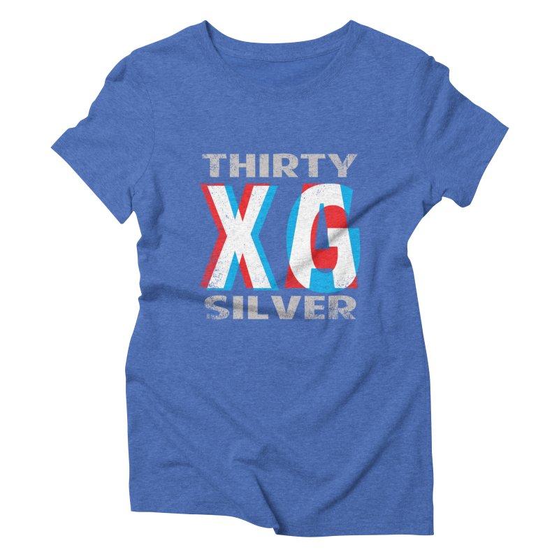 Thirty Silver LOGO Women's Triblend T-shirt by Thirty Silver