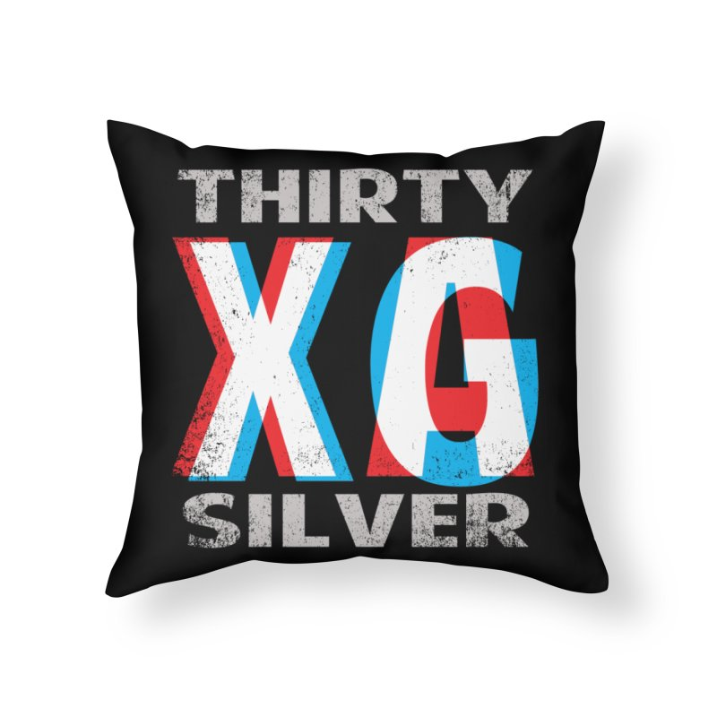Thirty Silver LOGO Home Throw Pillow by Thirty Silver