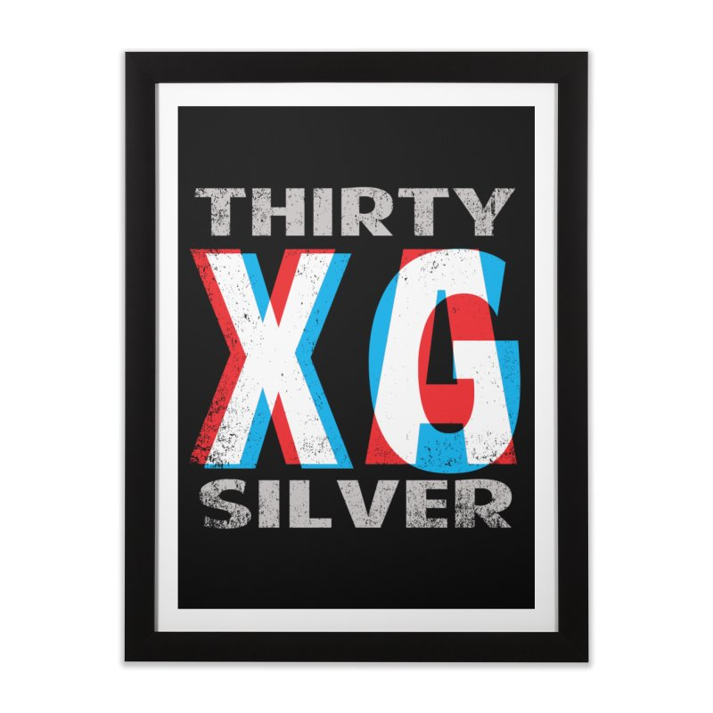 Thirty Silver LOGO Home Framed Fine Art Print by Thirty Silver