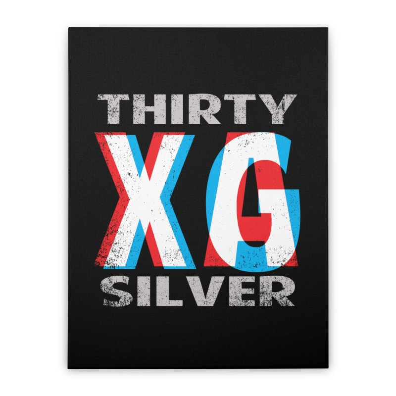 Thirty Silver LOGO Home Stretched Canvas by Thirty Silver