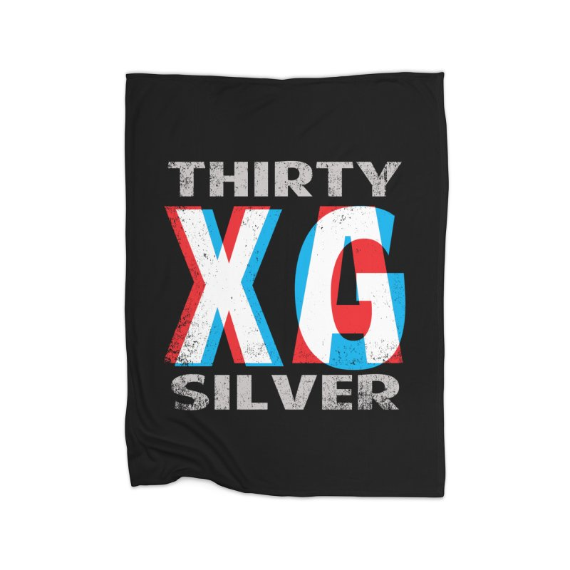 Thirty Silver LOGO Home Fleece Blanket Blanket by Thirty Silver