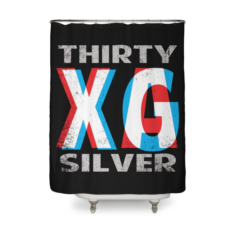 Thirty Silver LOGO Home Shower Curtain by Thirty Silver