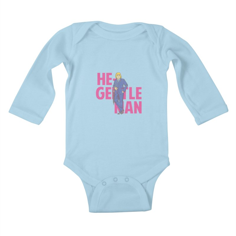 He-Gentleman Kids Baby Longsleeve Bodysuit by Thirty Silver