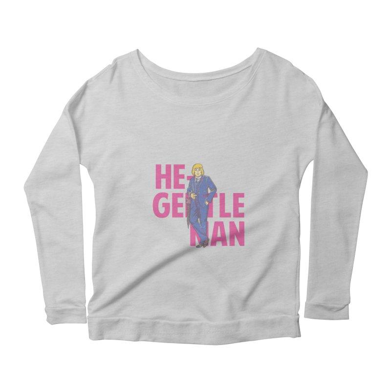 He-Gentleman Women's Longsleeve Scoopneck  by Thirty Silver