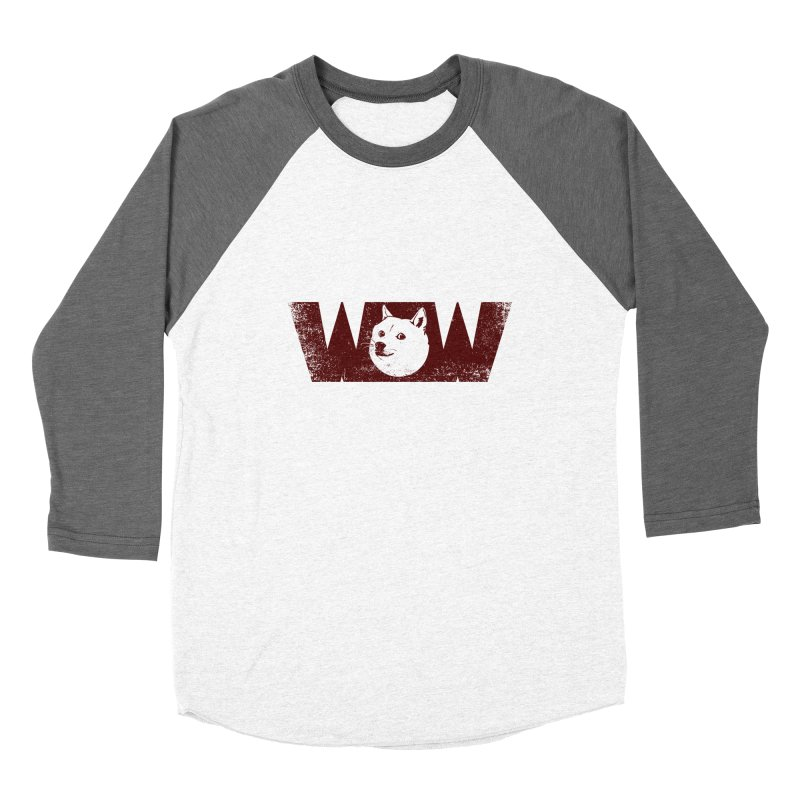Such Wow Women's Baseball Triblend Longsleeve T-Shirt by Thirty Silver