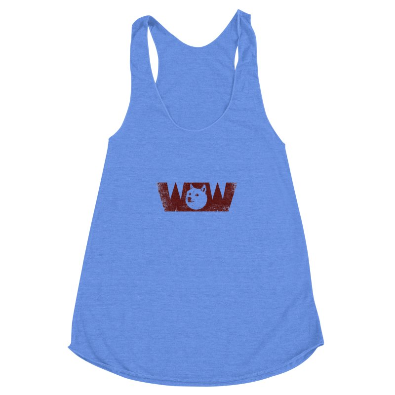 Such Wow Women's Racerback Triblend Tank by Thirty Silver