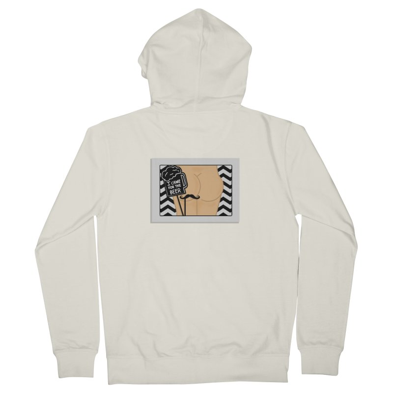 Wish You Were Butts Men's French Terry Zip-Up Hoody by Thirty Silver