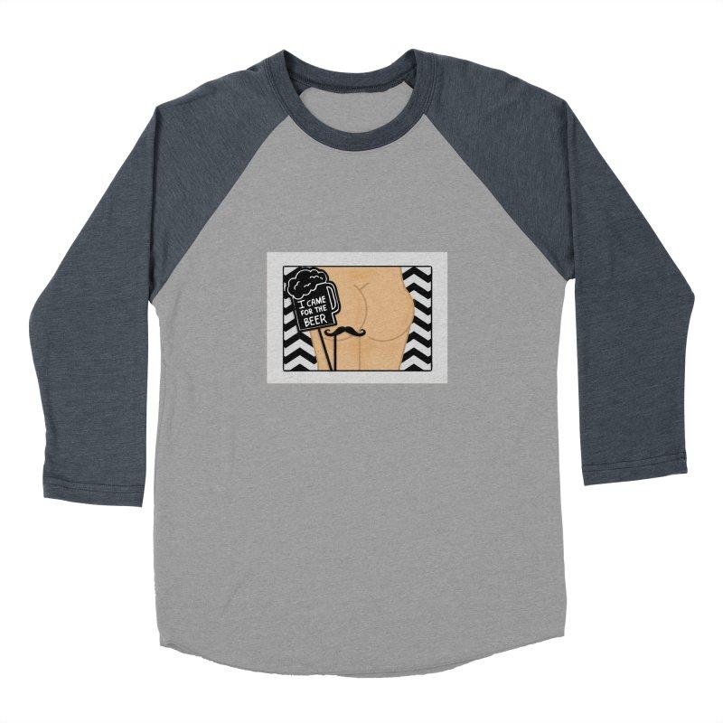 Wish You Were Butts Men's Baseball Triblend Longsleeve T-Shirt by Thirty Silver