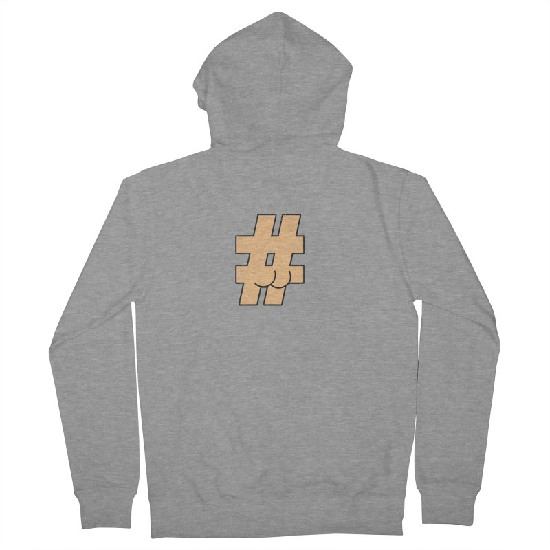 hashtagdatassdoh Men's French Terry Zip-Up Hoody by Thirty Silver