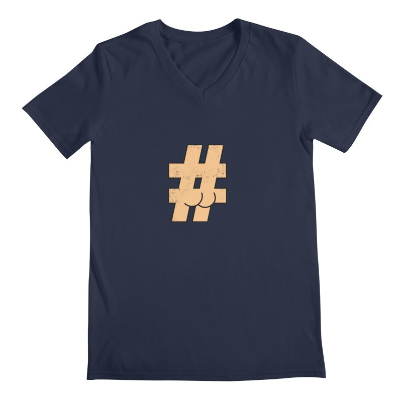 hashtagdatassdoh Men's Regular V-Neck by Thirty Silver