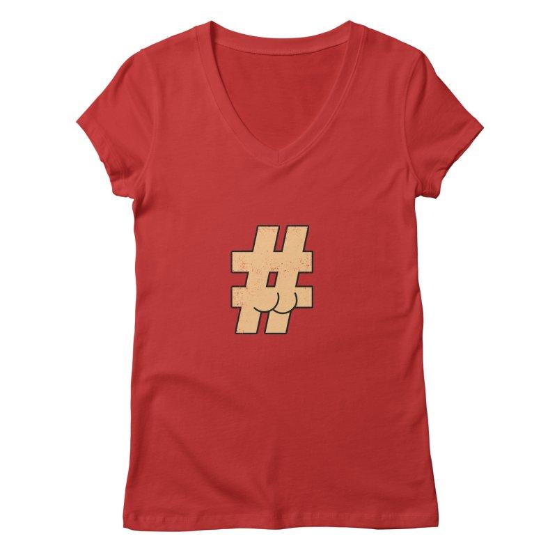 hashtagdatassdoh Women's Regular V-Neck by Thirty Silver