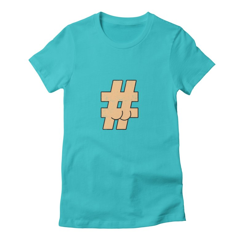 hashtagdatassdoh Women's Fitted T-Shirt by Thirty Silver