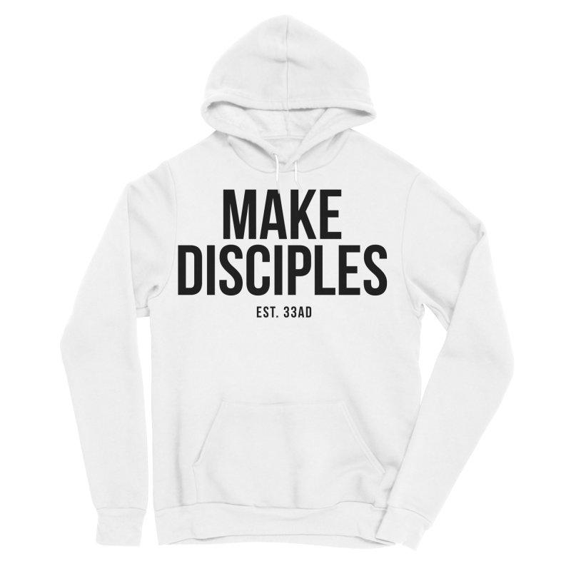 Make Disciples Est. 33AD in Men's Sponge Fleece Pullover Hoody White by XXXIII Apparel