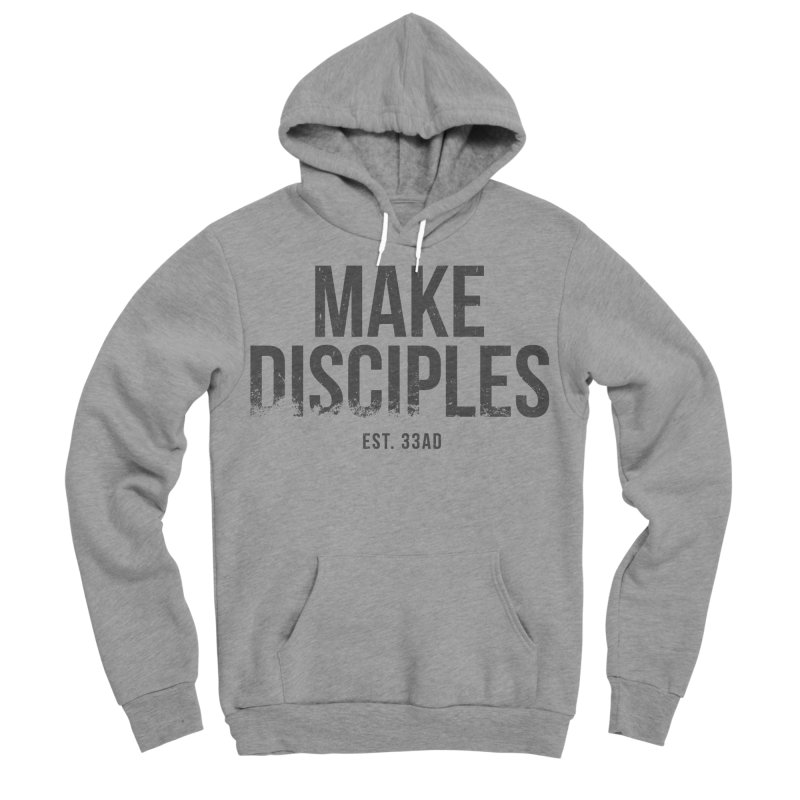 Make Disciples 33AD Grunge Style in Women's Sponge Fleece Pullover Hoody Heather Graphite by XXXIII Apparel