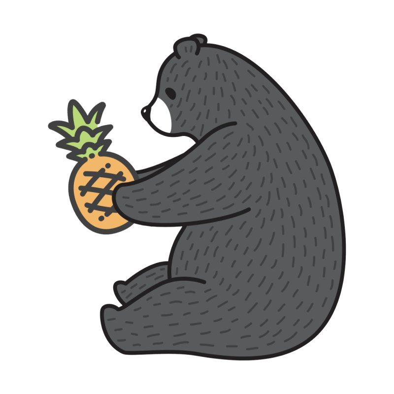 Bear Fruit (Pineapple) by XXXIII Apparel