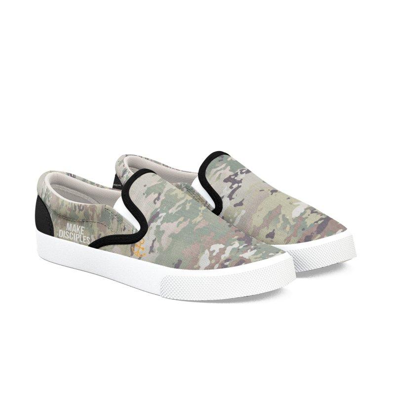 Men's MD Camo Shoes Men's Slip-On Shoes by XXXIII Apparel
