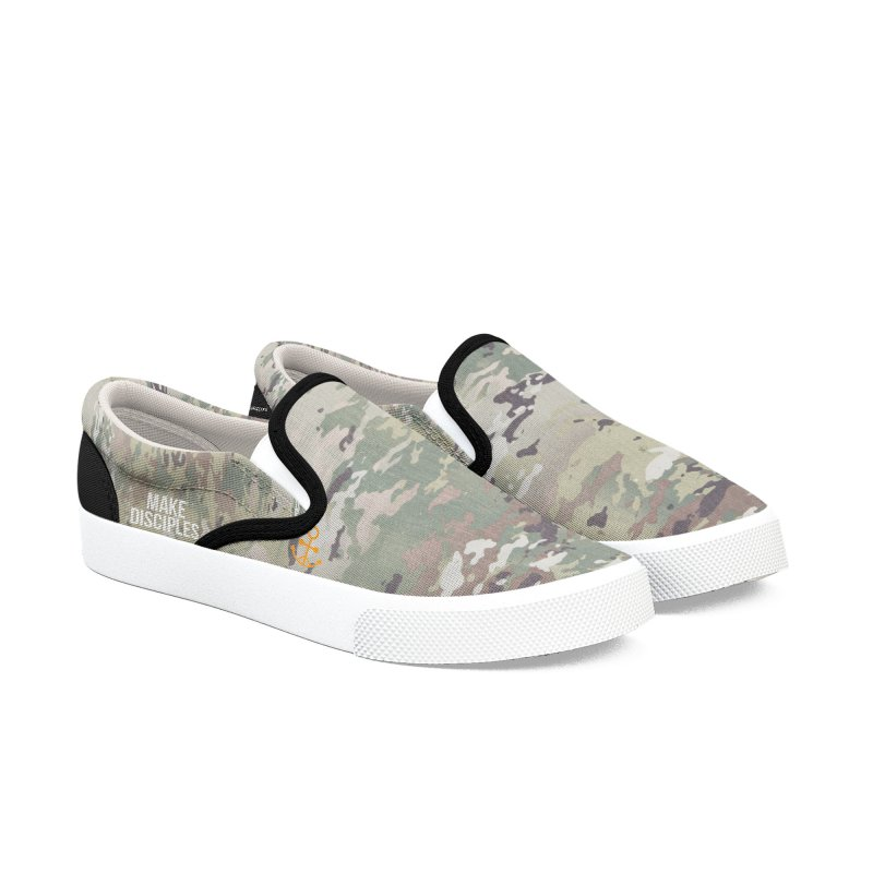 Women's MD Camo Shoes Women's Slip-On Shoes by XXXIII Apparel