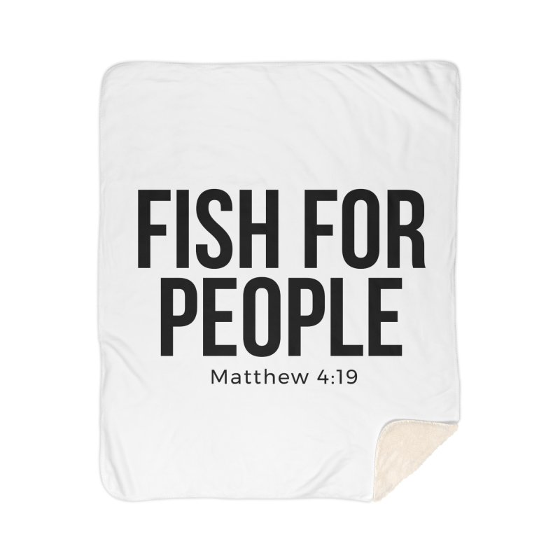 Fish for People Home Sherpa Blanket Blanket by XXXIII Apparel