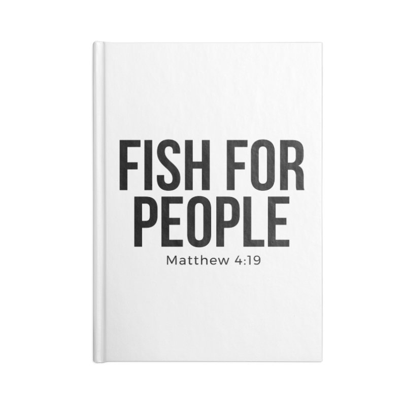 Fish for People Accessories Lined Journal Notebook by XXXIII Apparel