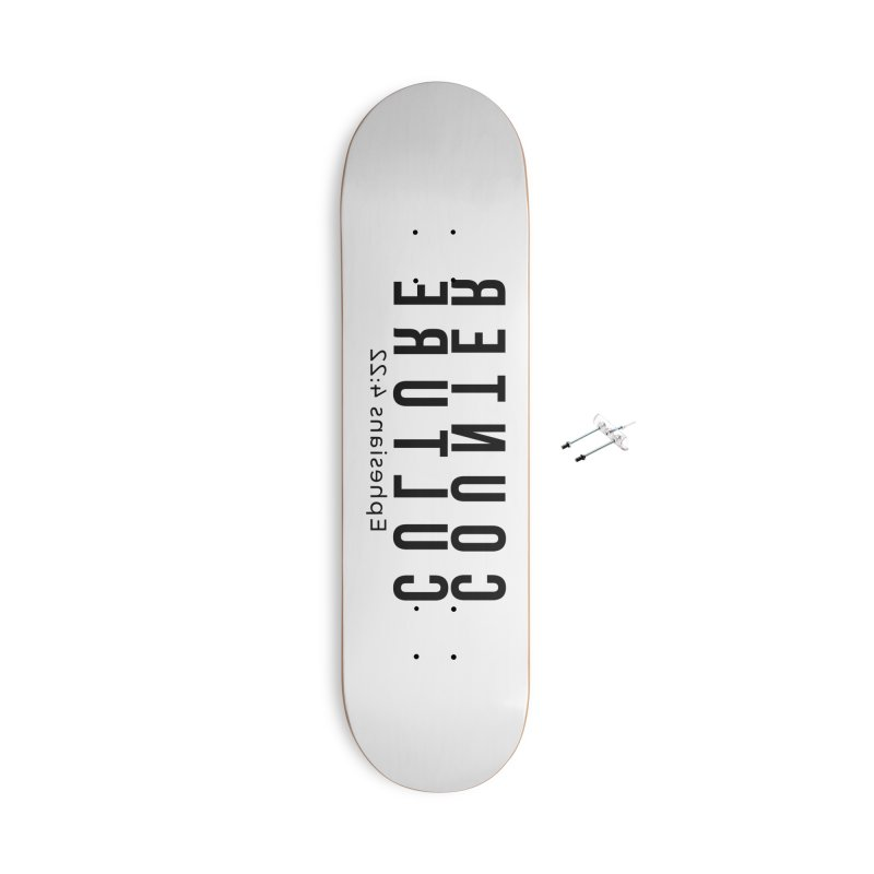 Counter Culture Accessories With Hanging Hardware Skateboard by XXXIII Apparel