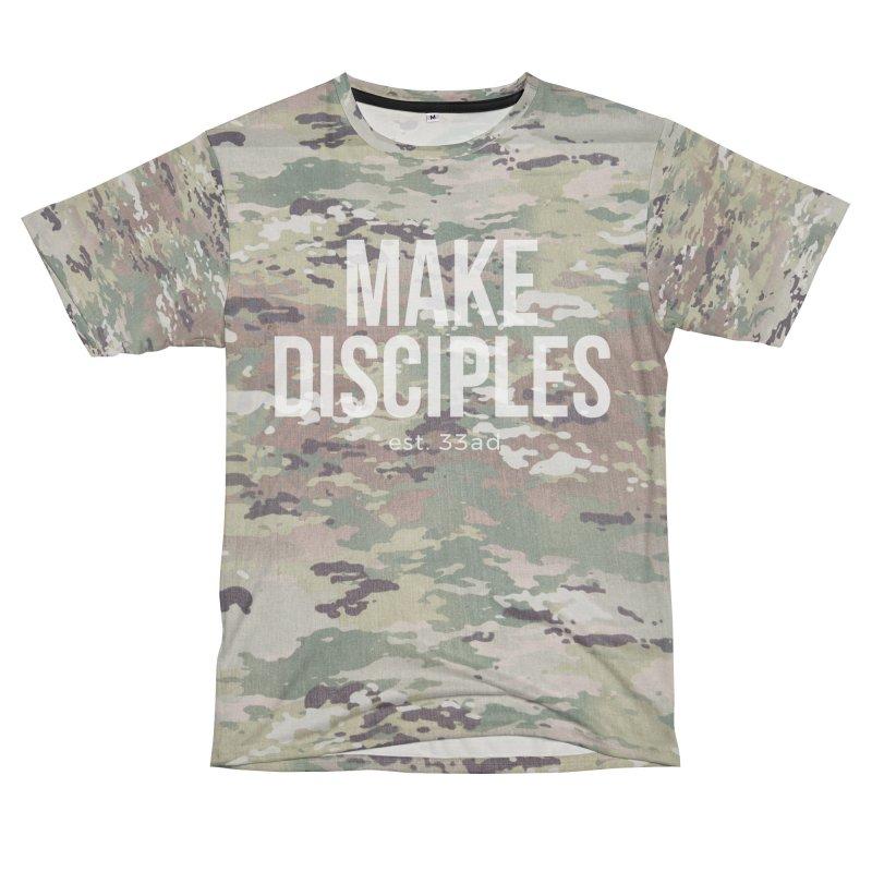 Make Disciples - Full Camo Men's T-Shirt Cut & Sew by XXXIII Apparel