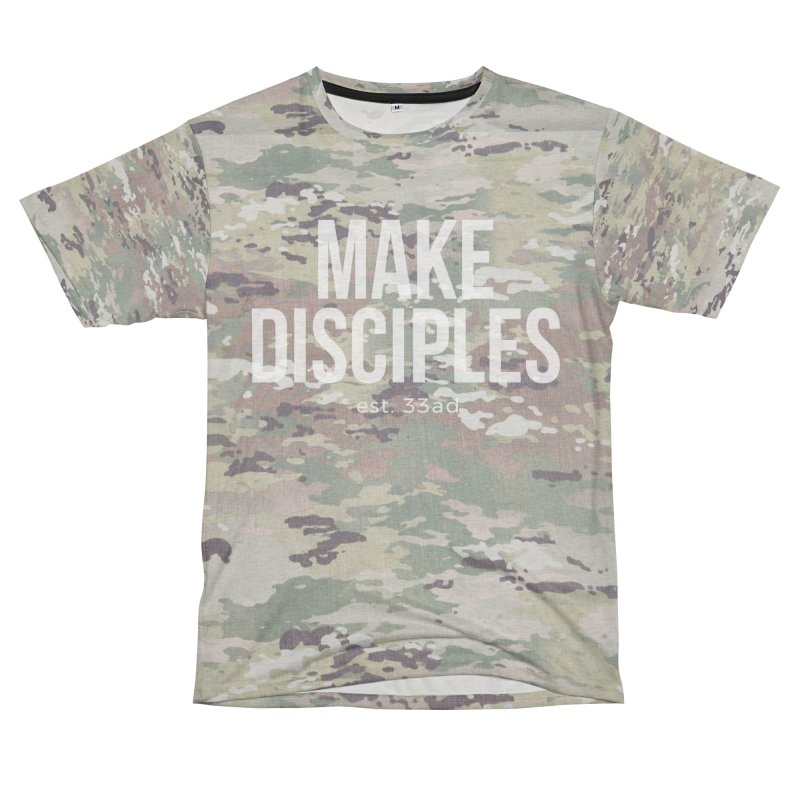 Make Disciples - Full Camo Women's Unisex French Terry T-Shirt Cut & Sew by XXXIII Apparel