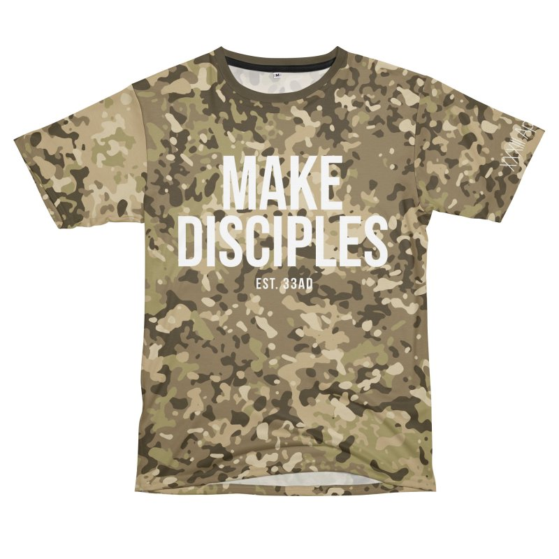 Make Disciples - Full Camo Women's Unisex T-Shirt Cut & Sew by XXXIII Apparel