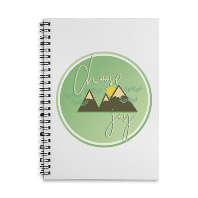 Choose Joy Accessories Lined Spiral Notebook by XXXIII Apparel