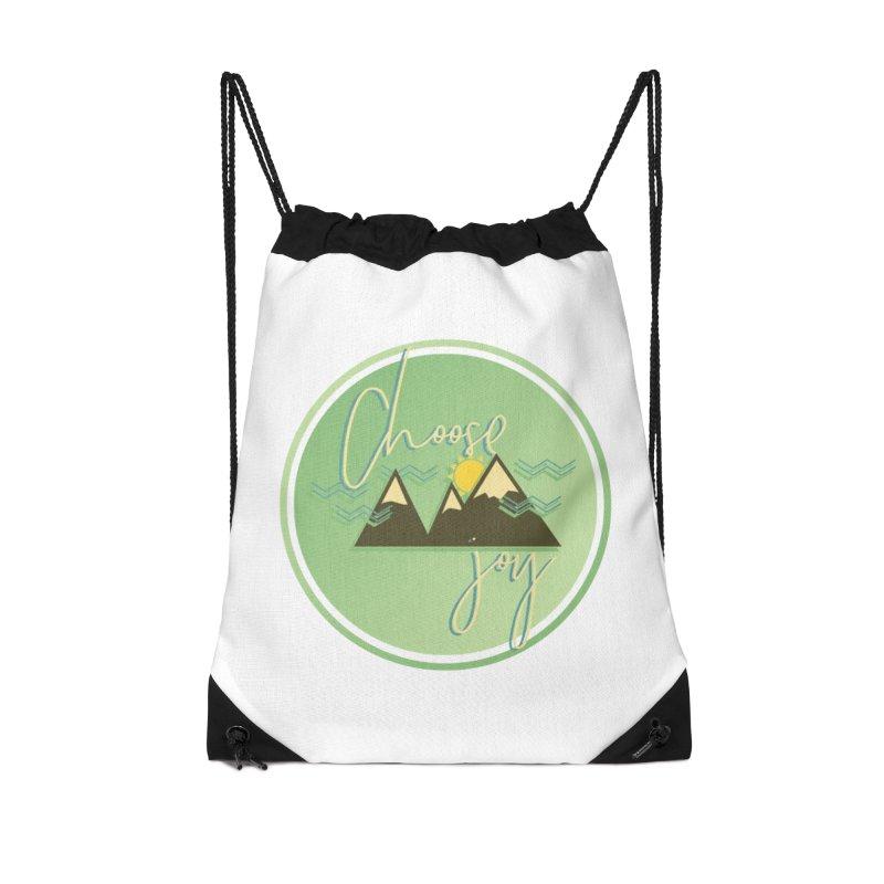 Choose Joy Accessories Drawstring Bag Bag by XXXIII Apparel