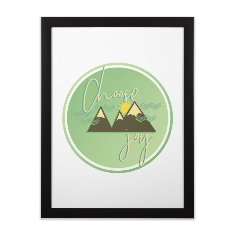Choose Joy Home Framed Fine Art Print by XXXIII Apparel