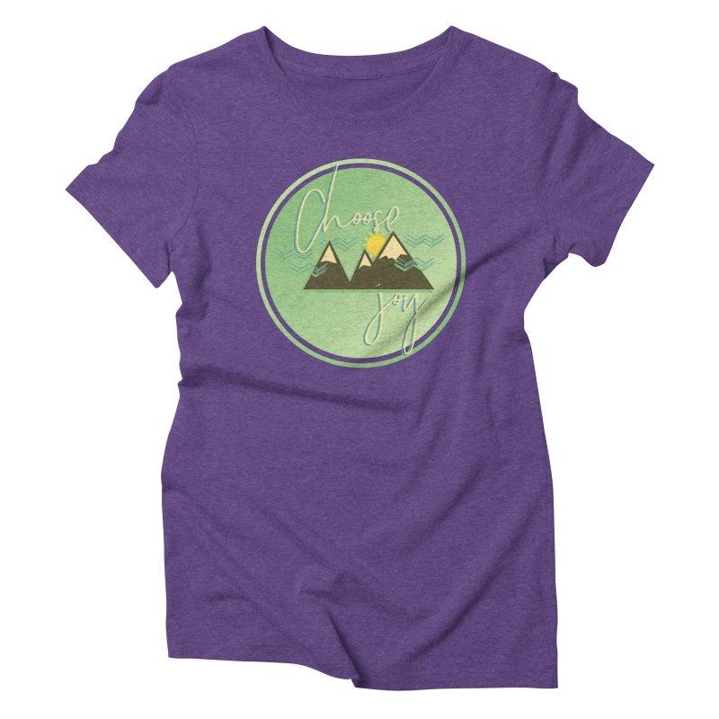 Choose Joy Women's Triblend T-Shirt by XXXIII Apparel