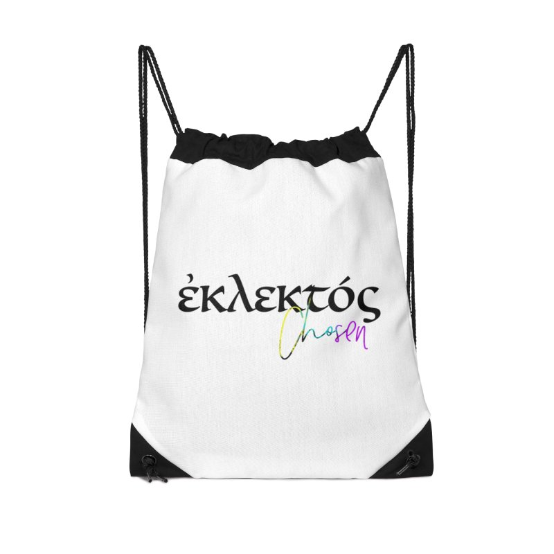 Eklektos - Chosen (White) Accessories Drawstring Bag Bag by XXXIII Apparel