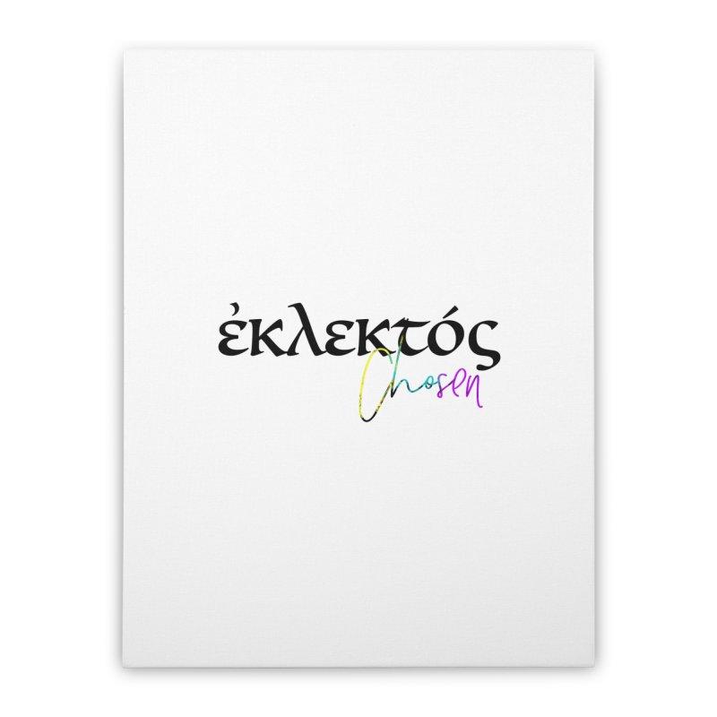 Eklektos - Chosen (White) Home Stretched Canvas by XXXIII Apparel