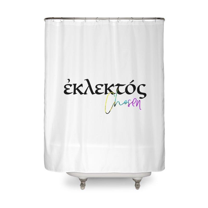 Eklektos - Chosen (White) Home Shower Curtain by XXXIII Apparel