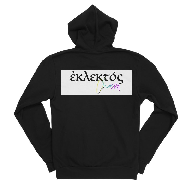 Eklektos - Chosen (White) Women's Sponge Fleece Zip-Up Hoody by XXXIII Apparel