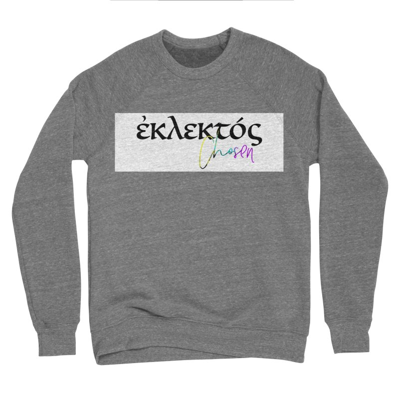 Eklektos - Chosen (White) Women's Sponge Fleece Sweatshirt by XXXIII Apparel