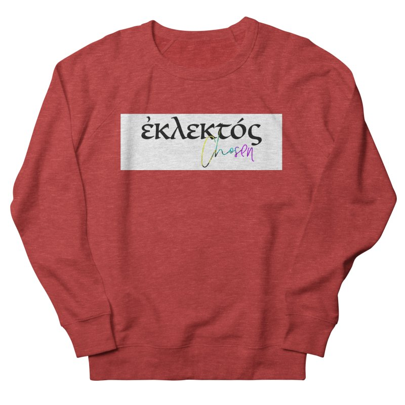 Eklektos - Chosen (White) Women's French Terry Sweatshirt by XXXIII Apparel