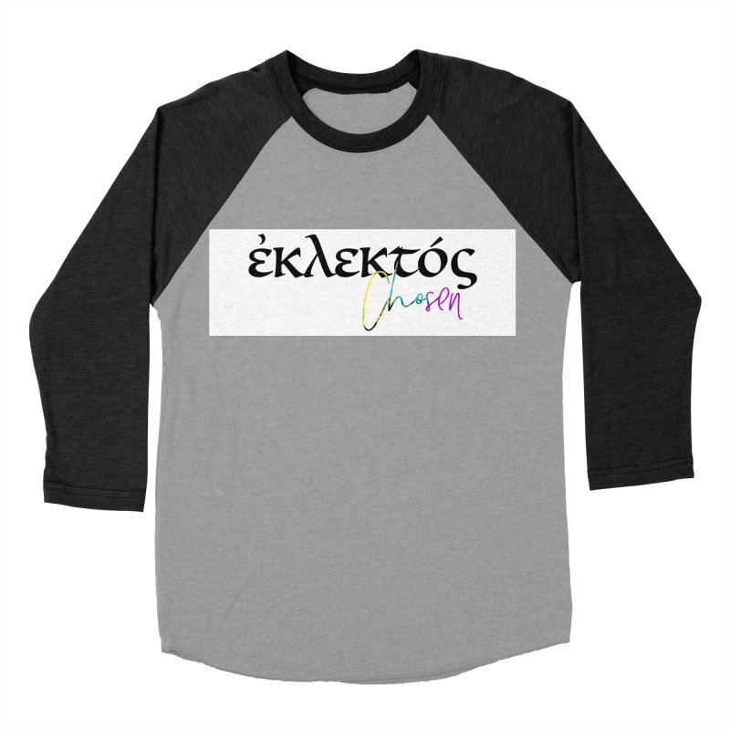 Eklektos - Chosen (White) Women's Baseball Triblend Longsleeve T-Shirt by XXXIII Apparel