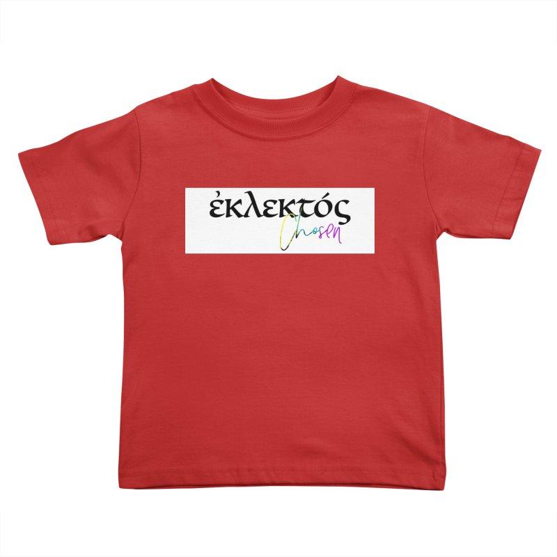 Eklektos - Chosen (White) Kids Toddler T-Shirt by XXXIII Apparel