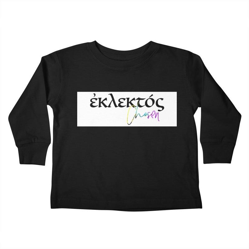 Eklektos - Chosen (White) Kids Toddler Longsleeve T-Shirt by XXXIII Apparel